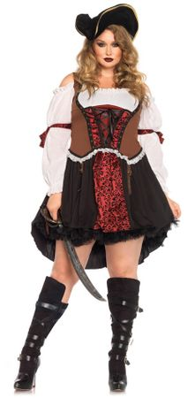 Women's Plus Size Ruthless Pirate Wench Costume