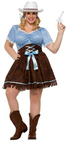 Women's Plus Western Cowgirl Costume