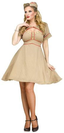 Women's Retro 1940s Army Gal Costume