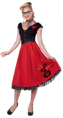 Women's Rock N Roll Sweetheart 50's Costume