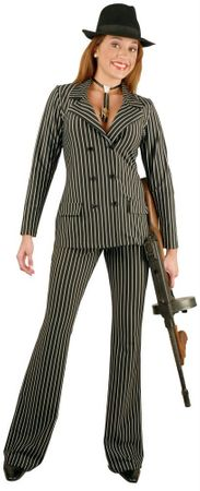 Women's Sexy Gangster Suit Costume