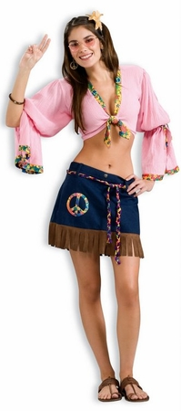 Women's Sexy Hippie Chickie Costume, Size M/L