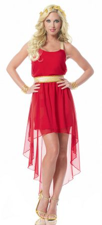 Women's Sexy Red Greek Empress Costume
