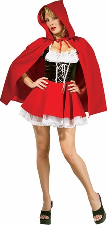 Women's Sexy Red Riding Hood Costume, Size XS