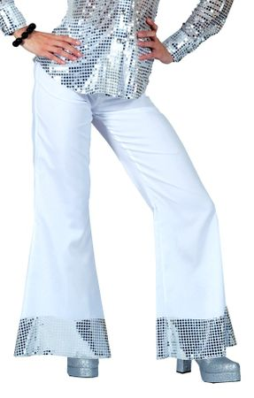 Women's Silver Stardust Sequin Disco Pants