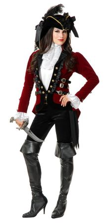 Women's Sultry Pirate Lady Coat