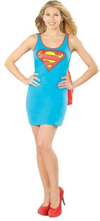 Women's Supergirl Tank Dress Costume