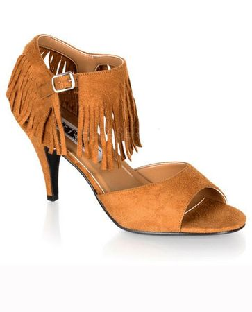 Women's Tan Fringed Indian Sandals, Size 7