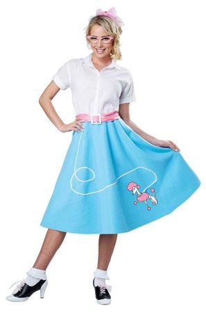 Economy Adult 50's Blue Poodle Skirt