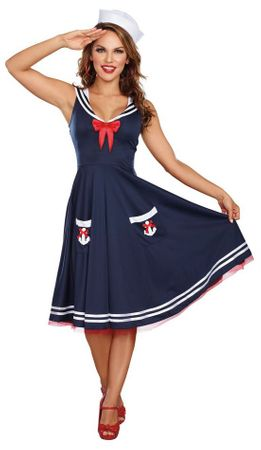 Women's All Aboard Retro Sailor Costume