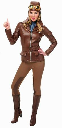 Women's Lady Earhart Aviator Costume