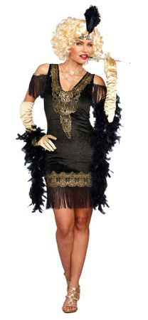 Women's Black/Gold Swanky Flapper Costume