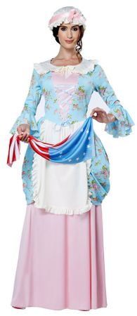 Women's Colonial Lady or Betsy Ross Costume