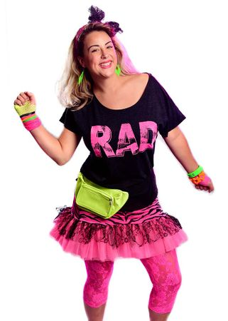 Women's Hot Pink Rad 80's Dolman Tee