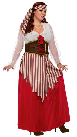 Women's Plus Pirate Wench Costume
