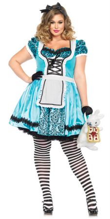 Women's Plus Size Looking Glass Alice Costume