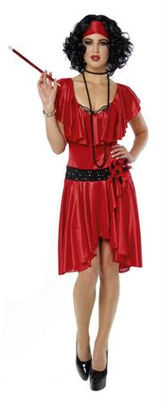 Women's Roaring 20's Gal Red/Black Flapper Costume