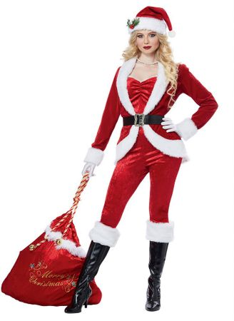 Women's Sassy Santa Christmas Costume