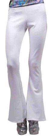 Women's White 70s Disco Pants - Standard and Plus Sizes
