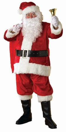 XXL Adult Red Premier Plush Santa Claus Suit