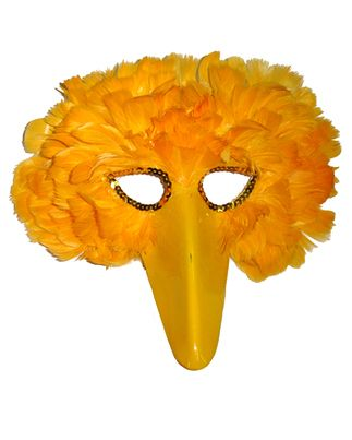 Yellow Feather Bird Mask