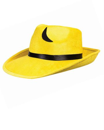 Yellow Pop Art Outlined Gangster Hat