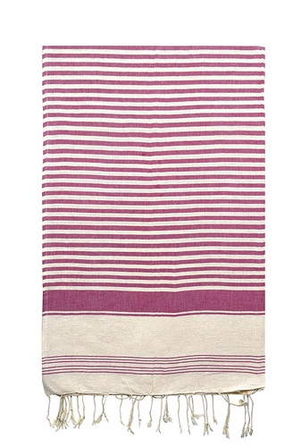 Magenta 100% Cotton Turkish Thin Camping Bath Sauna Beach Gym Pool Blanket Fouta Peshtemal Towels