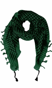 Green 100% Cotton Unisex Tactical Military Shemagh Keffiyeh Scarf Wrap