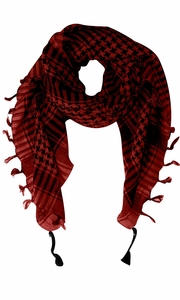 Maroon 100% Cotton Unisex Tactical Military Shemagh Keffiyeh Scarf Wrap