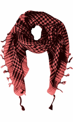 100% Cotton Unisex Tactical Military Shemagh Keffiyeh Scarf Wrap Pink