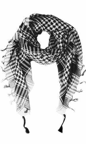 White 100% Cotton Unisex Tactical Military Shemagh Keffiyeh Scarf Wrap