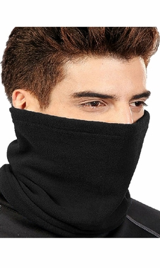 Black 4 In 1 Unisex Versatile Double layered Fleece Ski Mask