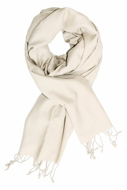 Off White Soft Elegant Cashmere & Silk Pashmina Shawl