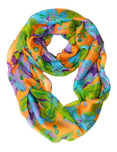 Orange Tropical Hibiscus Flower Infinity Loop Scarf