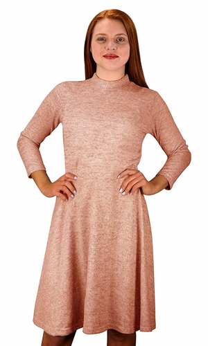 Ardent Academic Cozy Stylish Knit Pullover Sweater Dress Blush