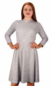 Ardent Academic Cozy Stylish Knit Pullover Sweater Dress Grey