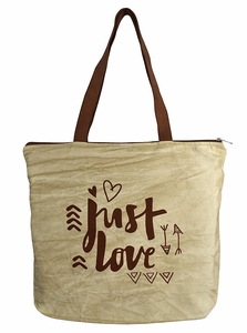 Beautiful Pattern Cotton Canvas Tote Bag Handbags Shoulder Bags Boho Tan