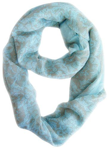 Multi Color Hawaiian Hibiscus Flower & Lace Design Infinity Loop Scarf