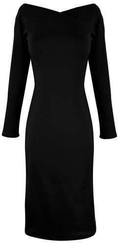 Black Bodycon Bodice Slim Fit Evening Dress