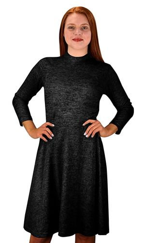 Black Ardent Academic Cozy Stylish Knit Pullover Sweater Dress