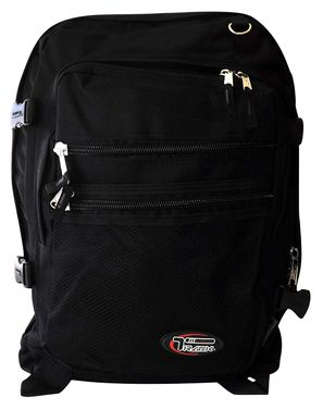 Black Extra Durable Comfort Professional Hiking Travel Daypack Backpack