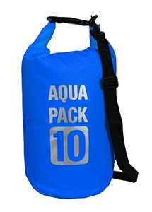 Blue Waterproof Dry Pack Bag-Roll Top Dry Compression Sack Keeps Gear Dry for Kayaking, Beach, Rafting, Boating, Hiking, Camping and Fishing 10 Litre