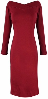 Maroon Bodycon Bodice Slim Fit Evening Dress