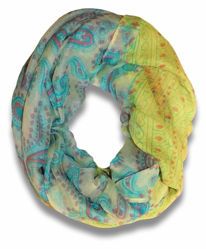 Bohemian Light Scarf - Lime and Green