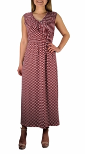 Red Bon Voyage Vintage Maxi Dress