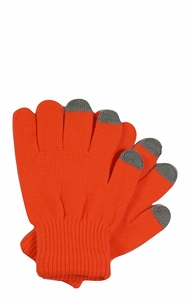Neon Orange Winter Gloves For iPhone iPad Android Any Touch Screen