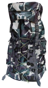 Bungee Camo X-Large Outdoor Hiking Camping Vacation Travel Luggage Backpack