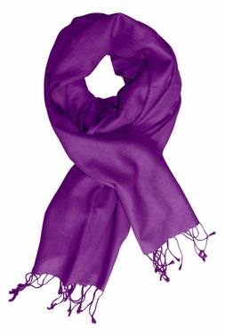 Purple Soft Elegant Cashmere & Silk Pashmina Shawl