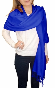 Blue Ultra-Soft 100% Cashmere Wrap