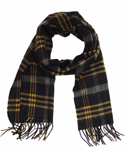 Black/Charcoal/Tan Cashmere Feel Mens Scarves